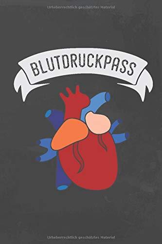 Blut-diagramm (Blutdruckpass: Kompaktes Blutdruck Logbuch für über 2000 Aufzeichnungen)