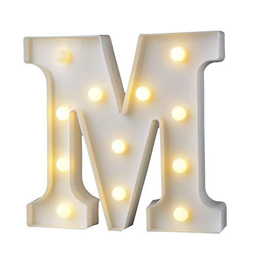 AIZESI Stimmungslichter Englisch Brief Lampe LED Symbol Modellierung Lampe Hochzeit Nacht Licht Geburtstag Vorschlag Lampe