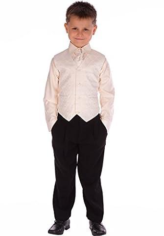 Mädchen/Babys 4 Stück Creme und Schwarz passend für 0 - 3 Monate 8 - 9 Jahre (Acht Knoten-knopf)