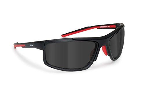 Occhiali polarizzati antiriflesso in nylon TR90 - montatura infrangibile per sci nautica pesca ciclismo running - By Bertoni Italy - P180C