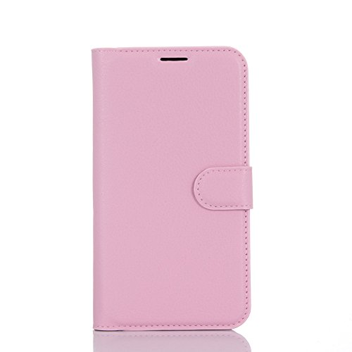 Kihying Hülle für Asus Zenfone Go TV ZB551KL Hülle Schutzhülle PU Leder Flip Wallet Fashion Geschäft HandyHülle (Pink - JFC08)