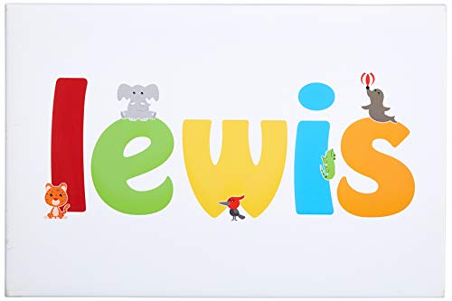 Feel Good Art Gallery Wrapped Nursery Box Canvas (Lewis, Large, 40 x 60 x 4 cm) -