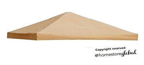 HomeStore Global Canopy de repuesto para Nivel 1 3 x 3 m marco glorieta (color : marrón)