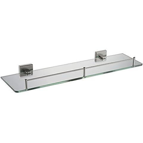 YUPD@Commercio all'ingrosso vetro base singolo scaffale spazzolato 304 in acciaio