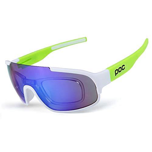 OPOLLY Stylische Outdoor-Radtour in polarisiertem glass/tr90-Material, schlagfeste Sportglasses/enthält DREI Objektive,A