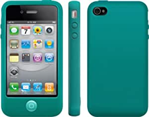 Coque silicone iphone 4/4s bleu turquoise