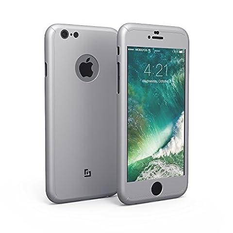 Cover iPhone 6s / 6 360 Gradi Pellicola Vetro Temperato, Mobilyos® [ 360 ° ] Custodia iPhone 6s Full Body Ultra Slim Pellicola Protettiva in Vetro ...