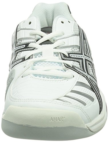 Asics GEL-CHALLENGER 9 INDOOR Herren Tennisschuhe Weiß (WHITE/CHARCOAL/RED  0174 ...