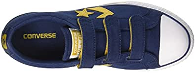 Converse Unisex-Kinder Star Player EV 3V OX Fitnessschuhe, Blau (Navy/Mineral Yellow/White 426), 35.5 EU