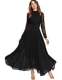 Largos Mujer Negros es Vestidos Ropa Amazon tTqpc ... 1bf8067f57276
