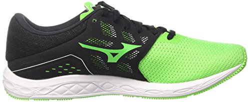 Mizuno Wave Sonic, Chaussures de Gymnastique Homme, Verde (Neon Green/Black/White), 42 EU
