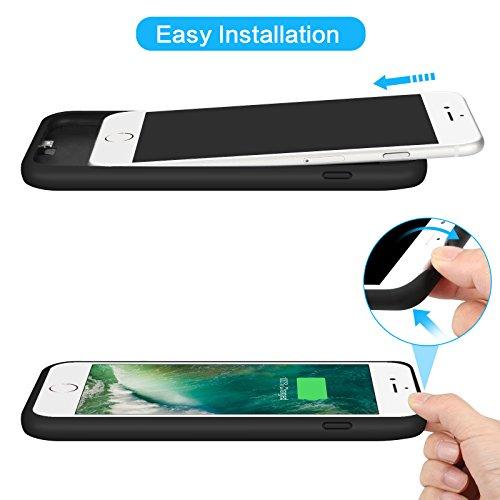 Custodia Batteria iPhone 6 Plus/ 6s Plus/ 7 Plus/ 8 Plus, 8500mAh Ultra Sottile Batteria Caricatore Cover per iPhone 6 Plus/ 6s Plus/ 7 Plus/ 8 Plus ...
