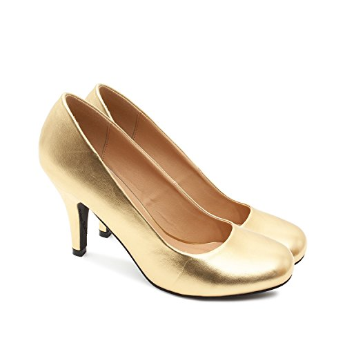 Andres Machado  Damen Pumps goldfarben 1 UK