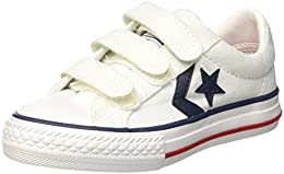converse star player blancas niño