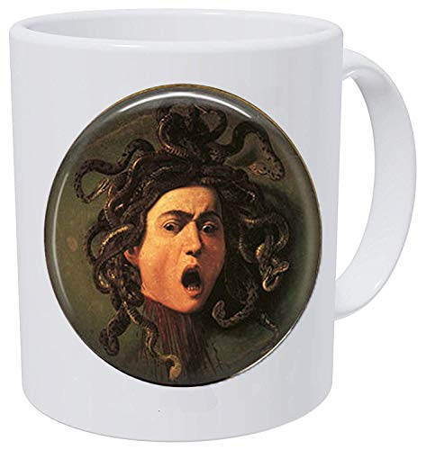 Caravaggio Art Renaissance Classic Coffee Mug Jewelry Gift Michelangelo Hars Medusa Lover By Mythology Keychain wvN8Pm0Oyn