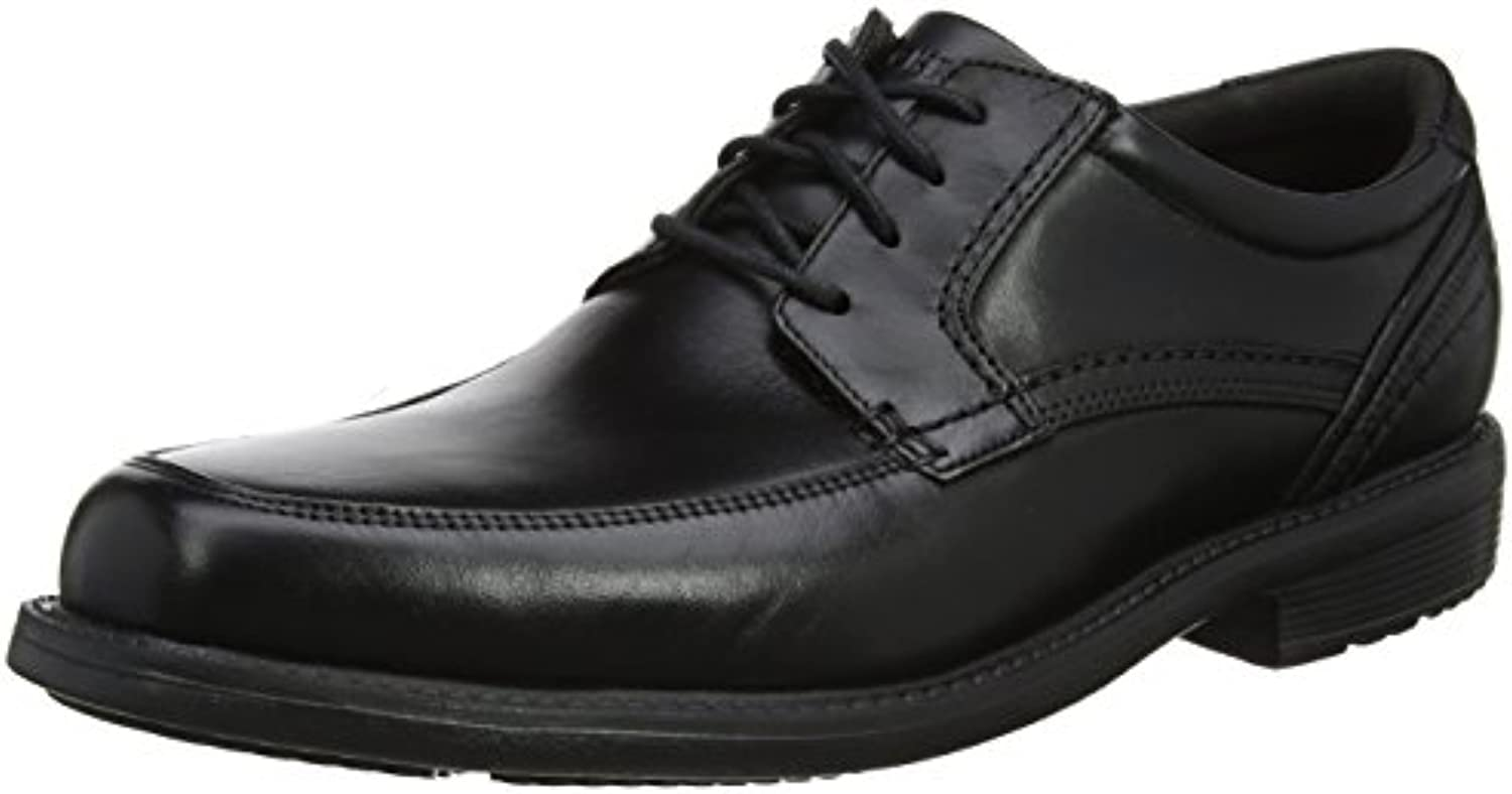 Rockport Herren Style Leader 2 Apron Toe Black Derbys