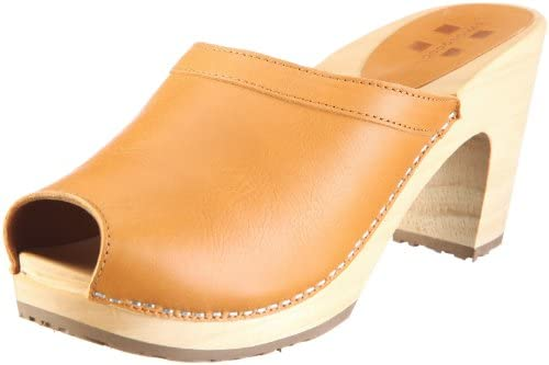 Swissoccoli Holzsandalette 2091 - Zuecos para mujer, color marrón, talla 39