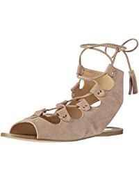 Taupe Suede Leather Look Sandal, Womens Open Toe Sandals La Strada