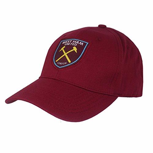 West Ham Utd FC Claret Baseball Cap Hat Club Crest Badge Adjustable Official