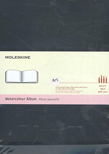 Moleskine Folio Art Aquarellbuch A4, Hardcover schwarz