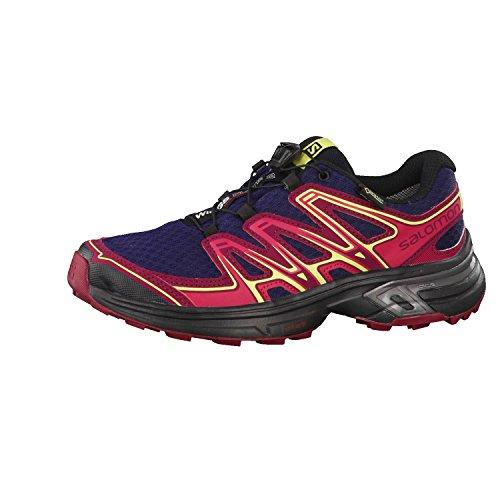 Salomon Damen Trail Running Schuhe Wings Flyte 2 GTX Evening Blue/Beet Red/Sunny Lime 40 2/3