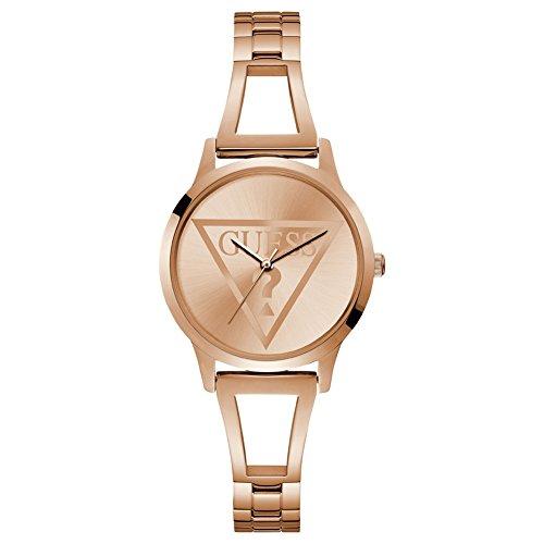 Guess Reloj Analógico para Mujer de Cuarzo con Correa en Acero Inoxidable W1145L4