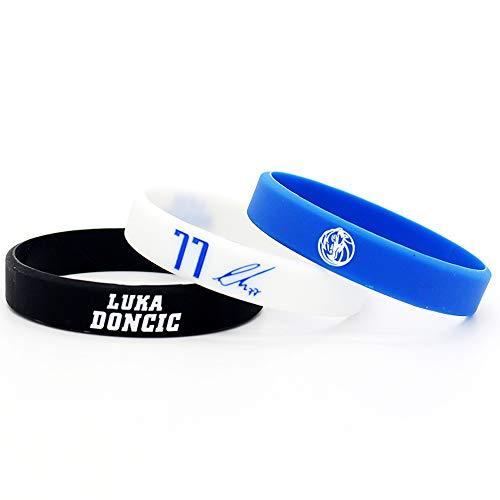 Lorh's store NBA Basketballspieler Stern inspirierende Unterschrift Armbänder Sport Silikon Armband (Luka Doncic)