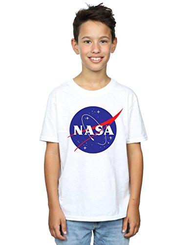 Nasa Jungen Classic Insignia Logo T-Shirt 9-11 Years Weiß