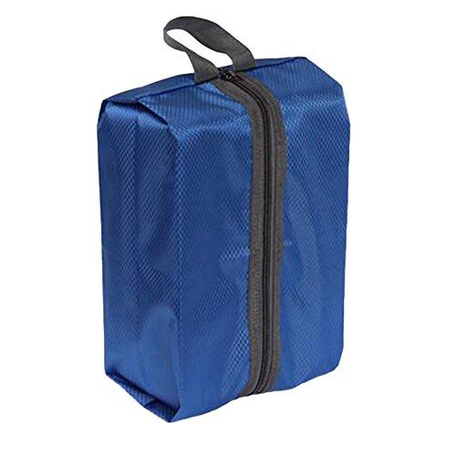 Staubsaugerbeutel Schuhschrank Nylon Wasserdicht Tragbar mit der Wäschesäcke Schuhschrank Reise von Zugvorrichtung-Große Speicherung von Kapazität blau (Basketball Adidas Heels)