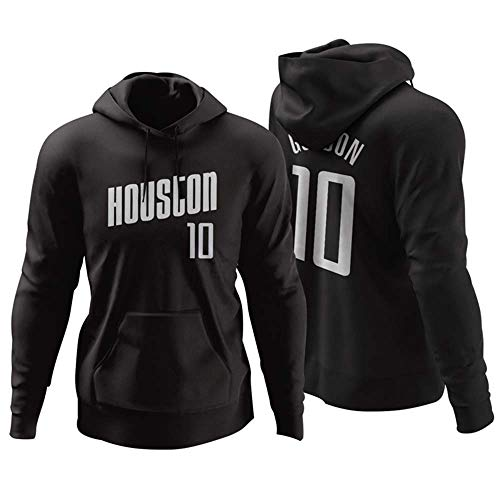 Venccl NBA Houston Rockets Nr. 10 Eric Gordon Sweater Rollkragen Hoodie Kapuzenjacke Herbst Und Winter Basketball Sweatshirt -