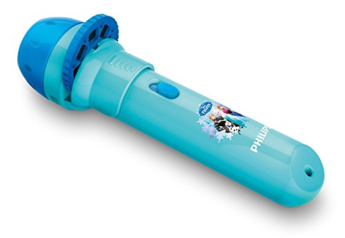 Philips Disney Frozen - Proyector y linterna 2 en 1, bombilla LED incluida, color azul