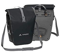 VAUDE Aqua Back Fahrrad Tasche - wasserdichte Gepäckträger Tasche im praktischen 2er Set - Fahrradtasche aus robustem & PVC-freiem Planenmaterial - Made in Germany