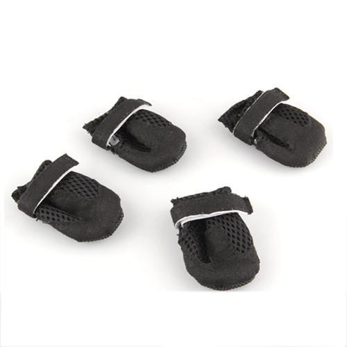 hundeinfo24.de 4tlg. Set PVC Hunde Pfotenschutz Schuhe Stiefel Hundeschuhe Gr. S