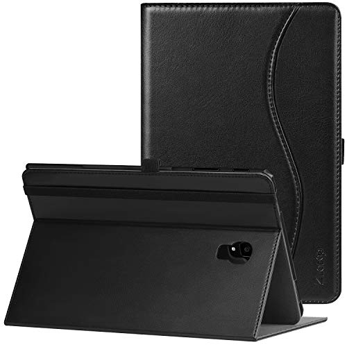 Ztotop Hülle für Samsung Galaxy Tab S4 10.5 2018,Leichte Ultra Leder Hülle Case Cover mit Standfunktion und Auto Sleep/Wake,Kartensteckplätze,Samsung Tablet S4 10,5 Zoll SM T830/T835,Schwarz (4-tablet-cover Tab)