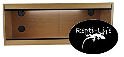 Repti-Life 48x24x24 Inch Vivarium Flatpacked In Beech, 4ft Viv by Repti-Life