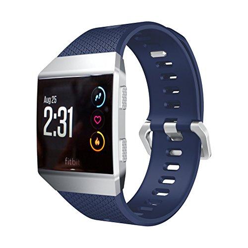 aresh para Fitbit Ionic reloj banda, liberación rápida suave correa de reloj de goma de silicona para Fitbit Ionic–Reloj, color azul