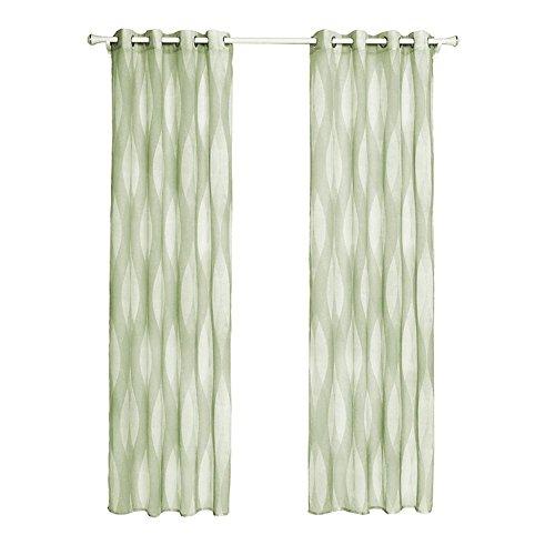 Schiere Vorhang Tüll Fenster Behandlung Voile Drape Volant Panel Stoff Vorhang Home Wohnzimmer Schlafzimmer Fenster Dekor Vorhang, Green, 2 * 135cm*220cm
