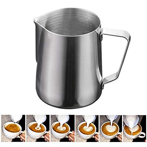 Cake Spatula Baking Tools Edelstahl Pull Blume Kaffee Tasse Cappuccino Creme Milch Schaum Becher Milch aufschäumen Krug Thermo Latte Art Becher, 2 Stück,600ml