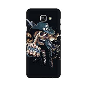 Mobicture Skull Finger Premium Printed High Quality Polycarbonate Hard Back Case Cover for Samsung A7 2016 With Edge to Edge Printing