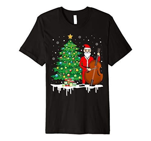 Weihnachtsmann, der Cello lustiges T-Shirt -