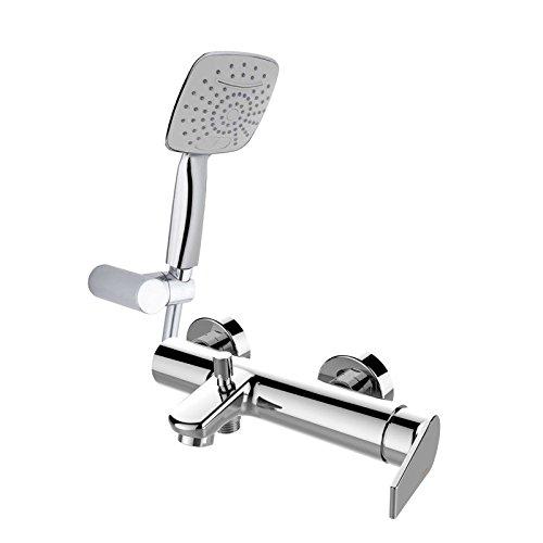 Grb winner - Monomando baño-ducha con equipo flexo+soporte cromo