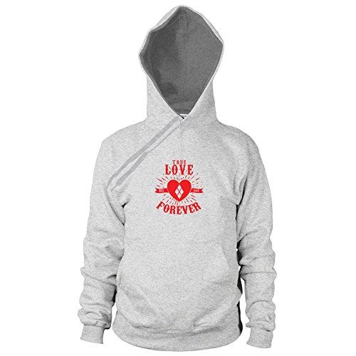 Herren Hooded Sweater, Größe: S, Farbe: grau meliert (Batman Forever Kostüm)