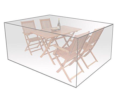 WOLTU GZ1170tp Housse de Protection en Polyéthylène pour mobilier de Jardin Imperméable,122x112x98 cm, Transparent
