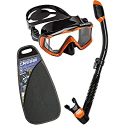 Cressi Sub S.p.A. Pano 3 & Dry Kit de randonnée Aquatique Mixte Adulte, Noir/Orange