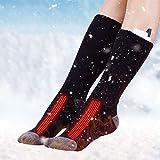 Chaussettes chauffantes, chaussettes chauffantes USB rechargeables Chaussettes respirantes isolées thermiquement dans infrarouge électrique, cadeau d'hiver pour réchauffer les pieds en randonnée