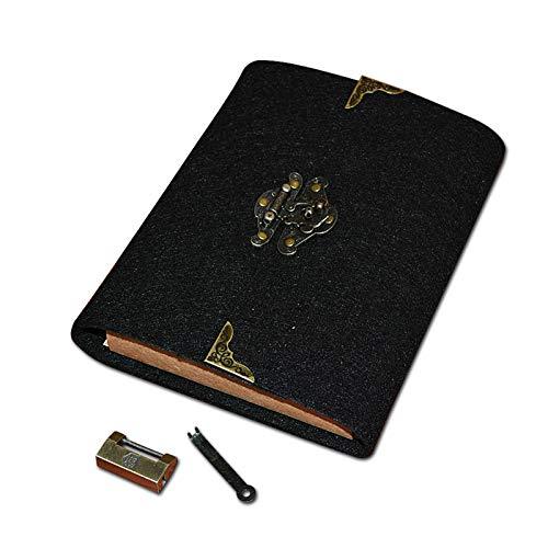xna-bz Taccuino Regalo Del Blocco Note A Fogli Mobili Fatto A Mano Di Viaggio Del Libro Bloccato Del Diario