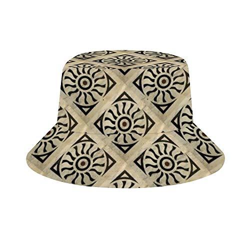 XIAHAILE-Männer und Frauen Fischer Hut Outdoor-Hut Für Jugendliche (56-58cm)-Mit Ziegeln Gedeckter Marmor aus der florentinischen Renaissance -