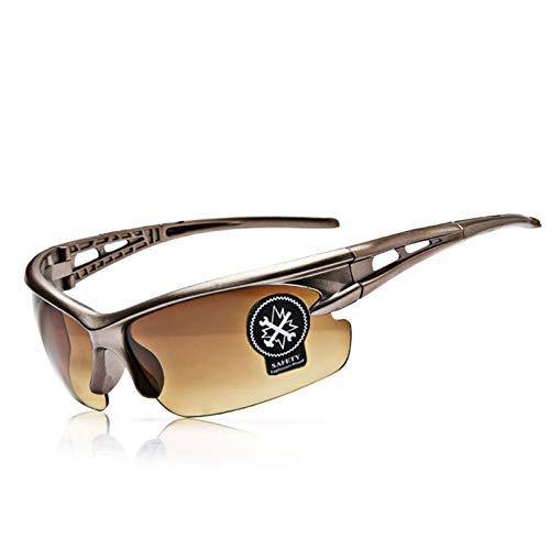 Adisaer Sport Brille Herren Radfahren Brille Winddicht Sand Mountainbike Sportbrillen Fahrradausrüstung Explosionsgeschützte Brille Brown Damen Herren
