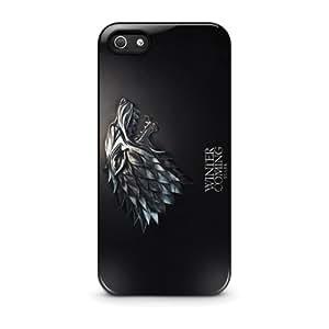 Coque iPhone 5/5s - Game of Thrones Winter is Coming Stark iPhone 5 5s plastique dur Black Coque