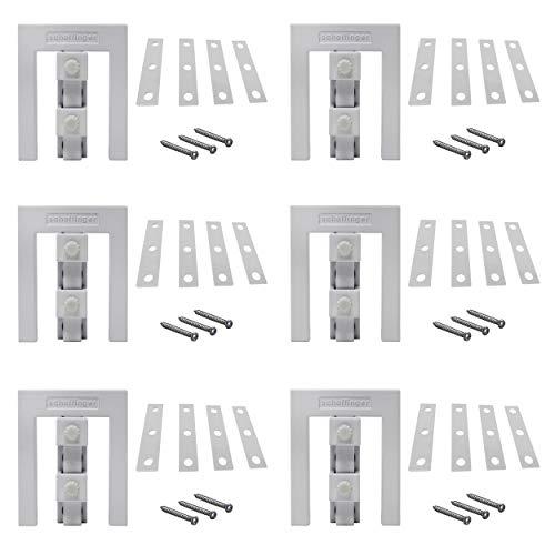 Scheffinger EM3 weiss, Fenstersicherung für Fenster oder Türen aus Kunststoff/Holz/Aluminium, Einbruchschutz DIN zertifiziert, hochwertiger massiver Stahl, 6er Set - Weiß Stahl-tür
